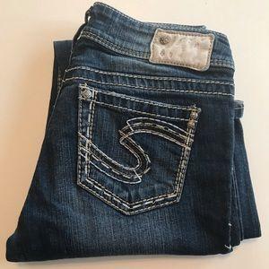 """Silver """"Suki"""" Jeans! Size: 28L34"""